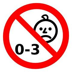 Joguina no destinada per infants  entre 0 i 3 anys